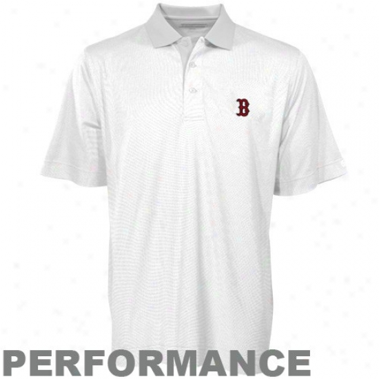 Boston Red Sox Clothing: Cutter & Buck Boston Red Sox White Birdseye Performance Polo