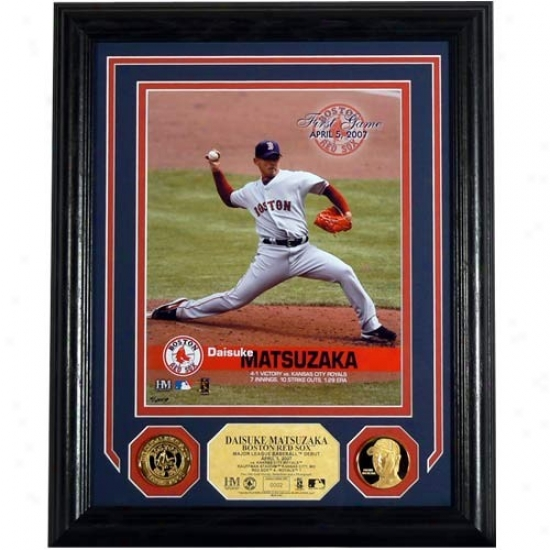 Boston Red Sox Daisuke Matsuzaka Photo Mint
