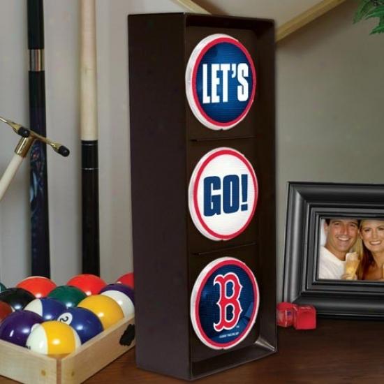 Boston Red Sox Flashing Let's Go Light