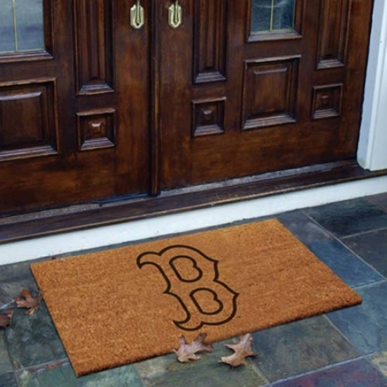 Boston Red Sxo Flocked Coir Door Mat