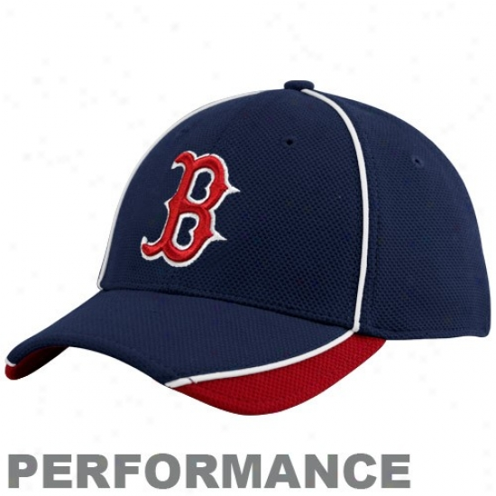 Boston Red Sox Gear: New Era Boston Red Sox Navy Blue 2010 Official Batting Praactice Flex Fit Performance Hat