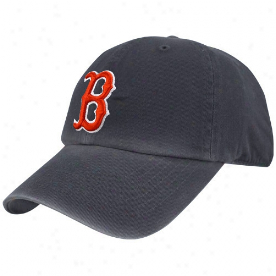 Boston Red Sox Hat : Boston Red Sox Navy Blue Franchise Fitted Hat