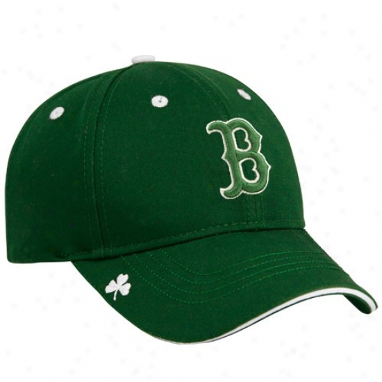 Boston Red Sox Hat : New Era Boston Red Sox Green Hooley St. Patrick's Day Adjustable Hat