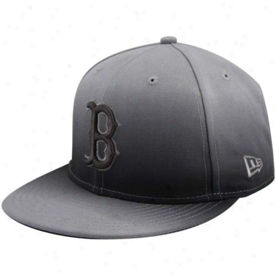 Boston Red Sox Hats : New Era Boston Red Sox Charcoal Fade Subtitle 59fifty Fitted Hats