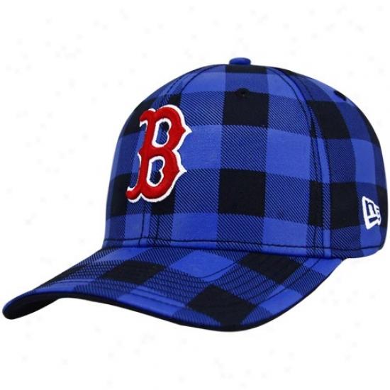 Boston Red Sox Hats : New Era Boston Red Sox Navy Blue B-lo 39thirty Stretch Fit Hats