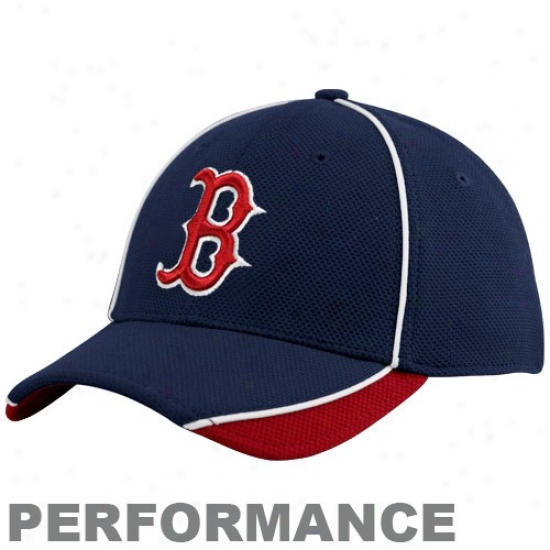 Boston Red Sox Hats : New Era Boston Red Sox Juvenility Navy Blue 2010 Official Batting Practice Flex Fit Performance Hats