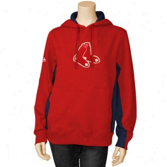 Boston Red Sox Hoodys : Majestic Boston Red Sox Ladies Red Pure V Hoodys