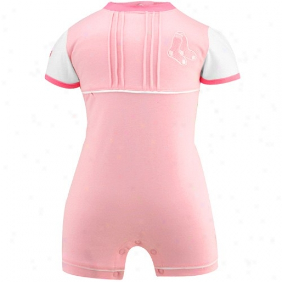 Boston Red Sox Infant Pink Cap Sleeve Romper