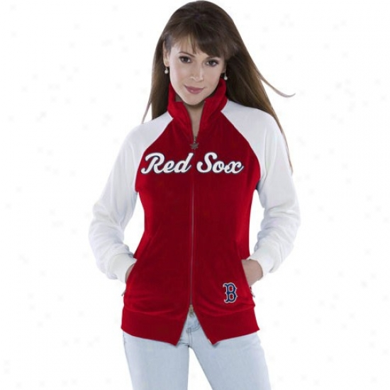 Boston Rde Sox Jerkin : Touch By Alyssa Milanp Boston Red Sox Ladies Navy Blue Velour Cheer Jacket
