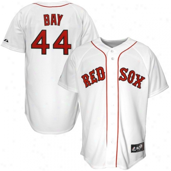 Boston Red Sox Jersey : Majestic Boston Red Sox #44 Jason Bay White Replica Baseball Jersey