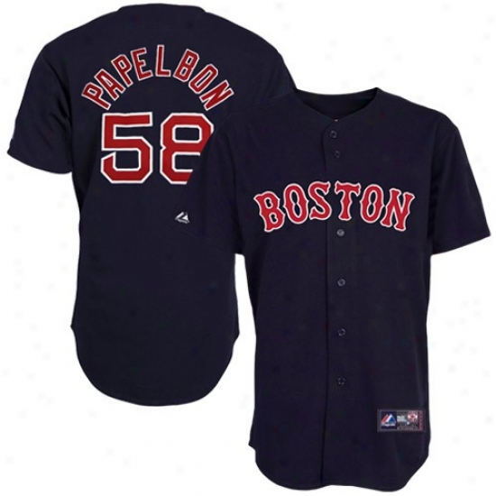 Boston Red Sox Jersey : Majestic Jonathan Papelbon Boston Red Sox Repica Jersey - Navy Blue