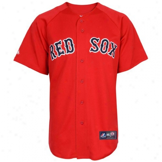 Boston Red Sox Jerseys : Majestic Boston Red Sox Red Replica Baseball Jerseys