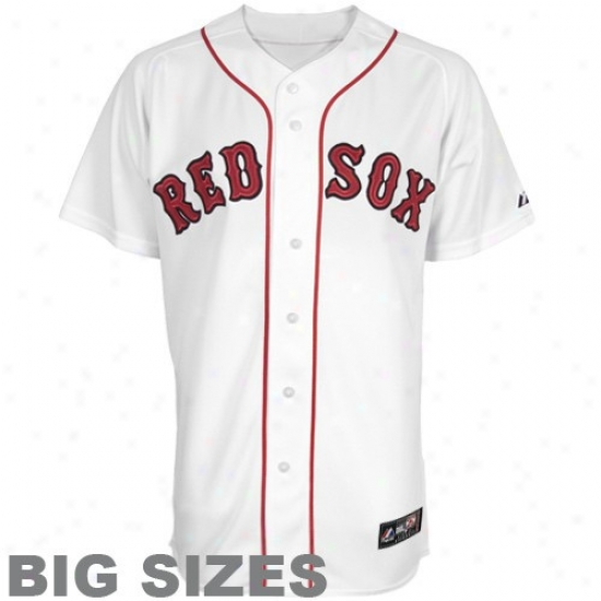 Boston Red Sox Jerseys : Majestic Boston Red Sox White Big Sizes Replica Baseball Jerseys