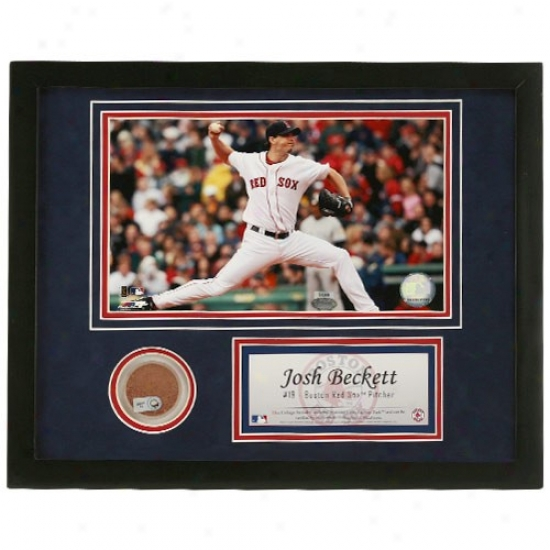Boston Red Sox Josh Beckeyt Framed Mkni Dirt Collage