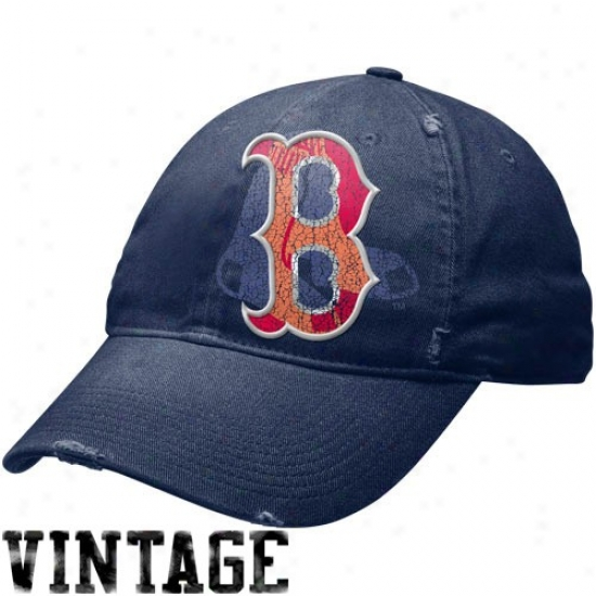 Boston Red Sox Merchandise: Nike Boston Red Sox Navy Blue Stacked Up Heritage 86 Unisex Adjustable Hat