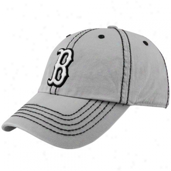 Boston Red Sox Merchandise: Twins '47 Boston Red Sox Gray Patton Franchise Fitted Hat