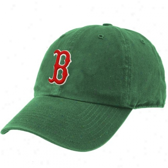Boston Red Sox Merchandise: Twins Enterprise Boston Red Sox Kelly Inexperienced Clean Up Adjustable Hat