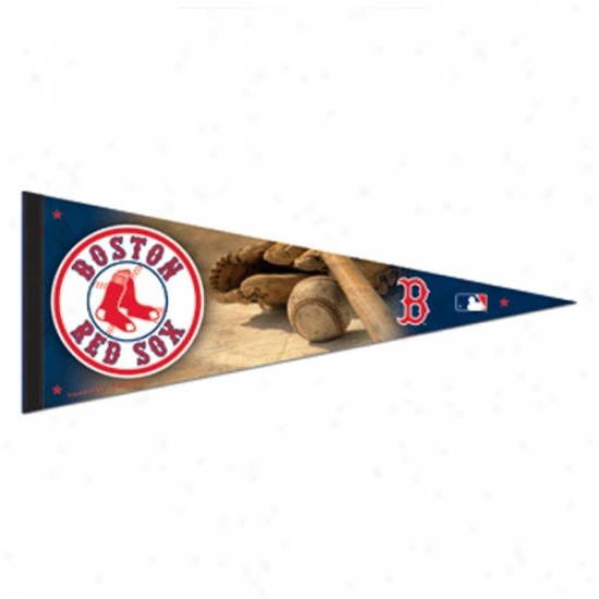 Boston Red Sox Navy Blue 12'' X 30'' Premium Felt Pennant