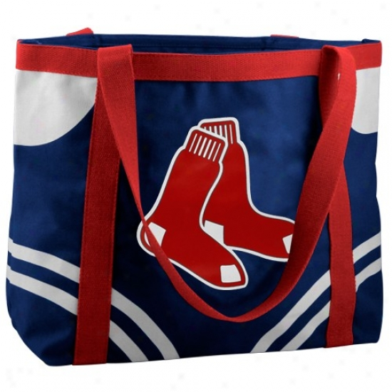 Boston Red Sox Navy Blue Large Canvas Tote Bag