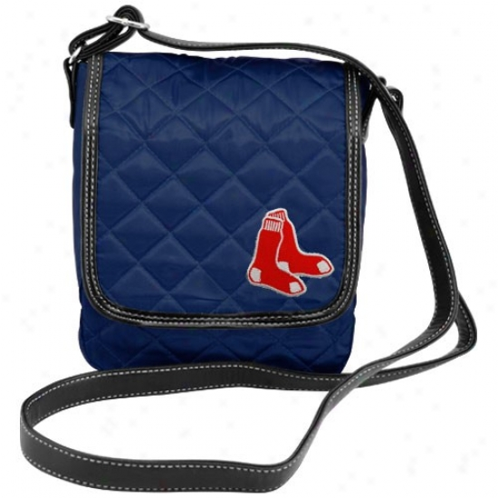 Boston Red Sox Navy Blue Quilted Purse