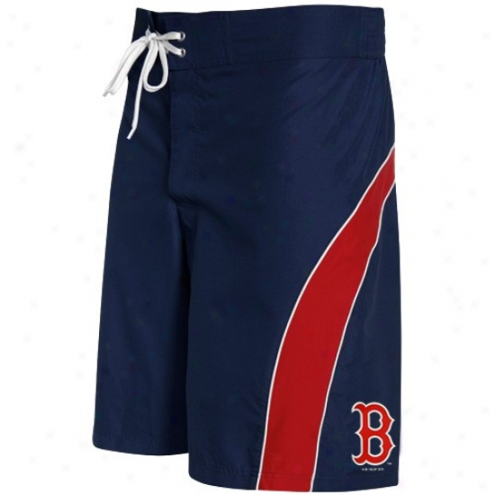 Boston Red Sox Navy Blue-red Color Block Boardshort