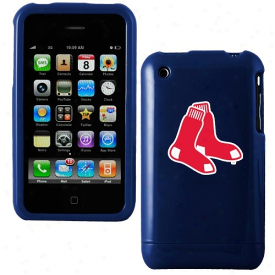 Boston Red Sox Navy Blue Team Logo Iphone Case