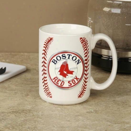 Boston Red Sox Pewter Logo Baseball Coffee Mug