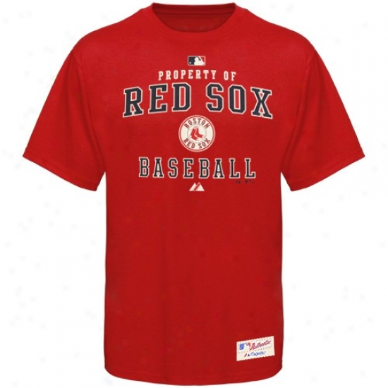 Boston Red Sox Shirt : Majestic Boston Red Sox Red Property Of Shirt