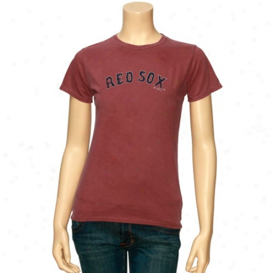 Boston Red Sox Shirt : Majestic Boston Red Sox Ladies Heather Red Haughty Time Play Shirt