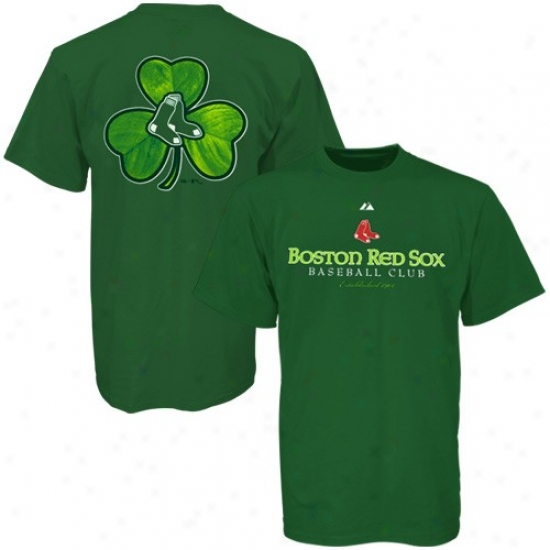 Bostin Red Sox Shirts : Majestic Boston Red Sox Green St. Patrick's Day Celtic Classic Shirts