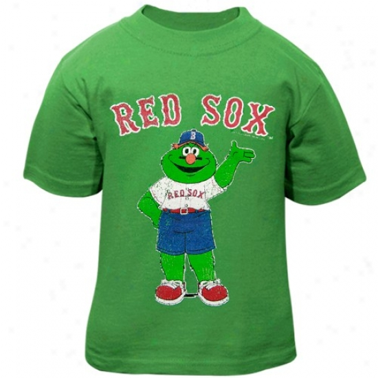 Boston Red Sox T-shitr : Boston Red Sox Toddler Green Distressed Mascot T-shirt