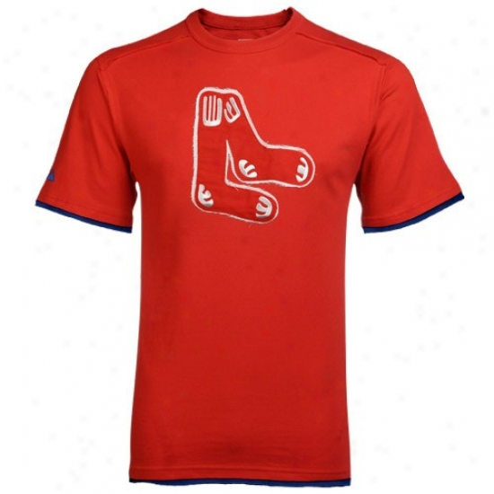 Boston Red Sx T-shirt : Majestic Boston Red Sox Red Cooperstown Aftetglow T-shirt