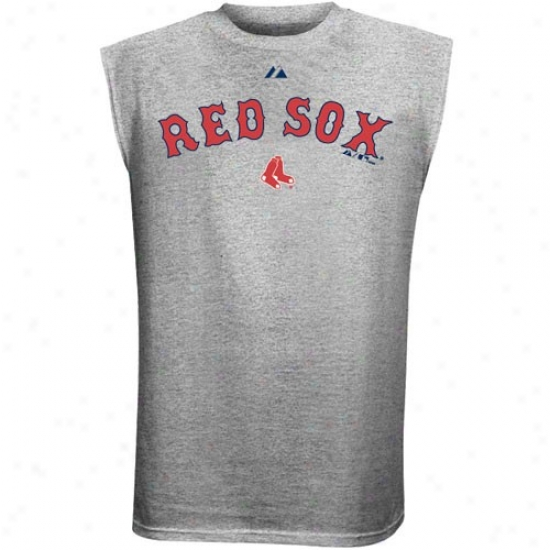 Boston Red Sox T Shirt : Majestic Boston Red Sox Ash Series Range Sleeveless T Shirt