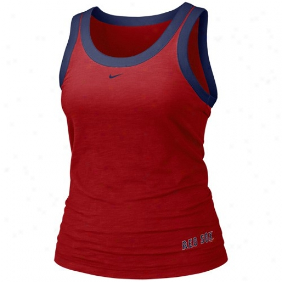 Boston Red Sox T-shirt : Nike Boston Red Sox Ladies Red Mlb Tank oTp