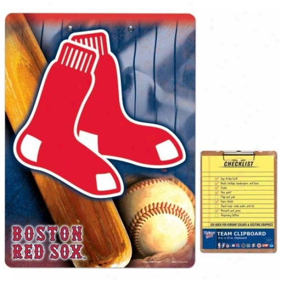 Boston Red Sox Team Logo Clipboard