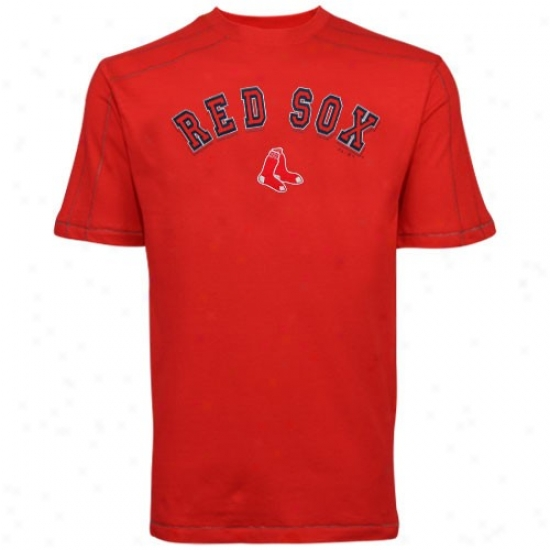 Boston Red Sox Tees : Majestic Boston Red Sox Red Double Switch Premium Way Tees