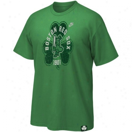 Boston Red Sox Tees : Nike Boston Red Sox Kelly Green St. Paddy's Day Washed Tees