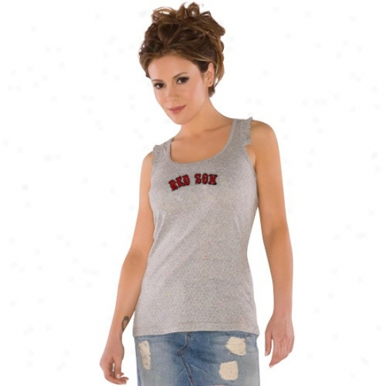 Boston Red Sox Tees : Touch By Alyssa Milano Boston Red Sox Ladies Gray Summer Breeze Tank Top