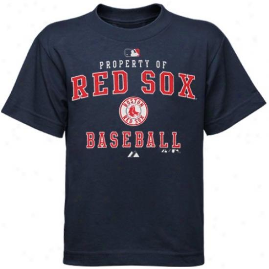 Boston Red Sox Tshirt : Majestic Boston Red Sox Preschool Navy Blue Ac Ownership Of Tshirt