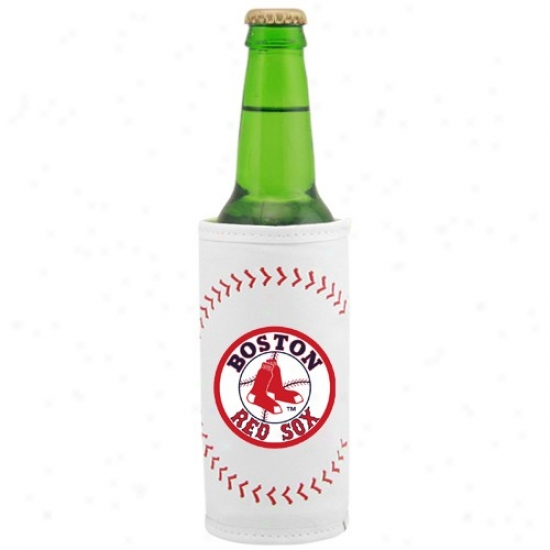 Boston Red Sox White Baseball Bottle Coolie