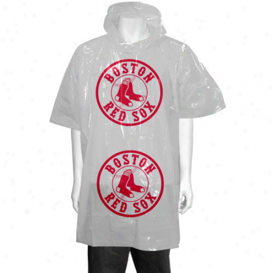 Boston Red Sox White Short Sleeve Poncho