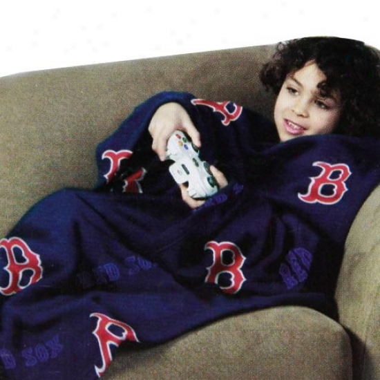 Bostom Red Sox Youth Navy Blue Team Logo Print Unisex Comfy Throw