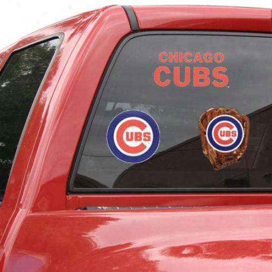Chicago Cubbs 11x7 Ultra Decal Sheet