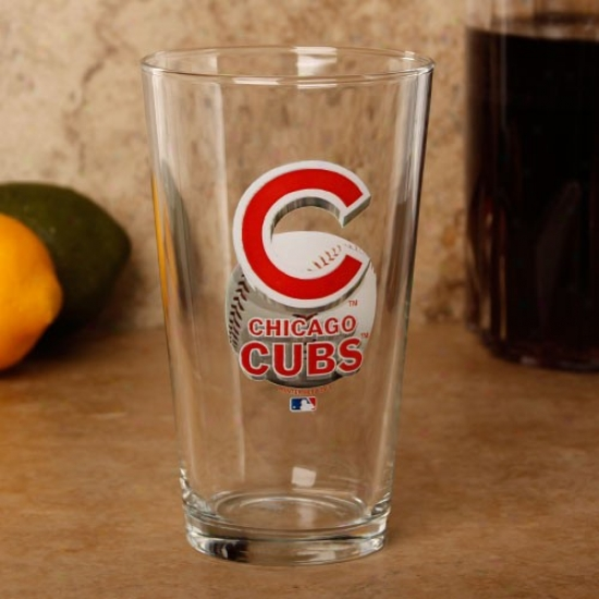 Chicago Cubs 17 Oz. Enhanced Hi-def Mixing Glass