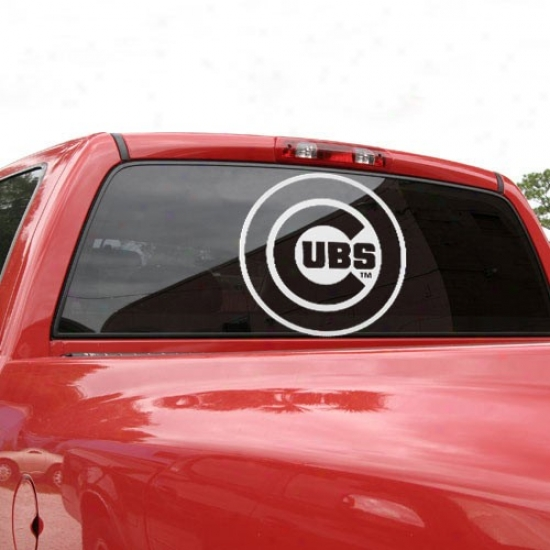 Chicago Cubs 18'' X 18'' White Logo Decal
