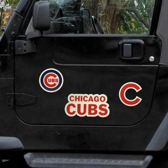 Chicago Cuubs 3-paxk Car Magneta