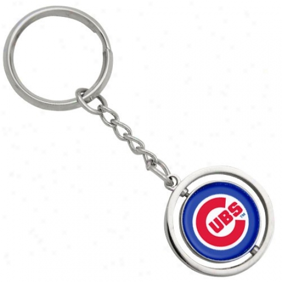 Chicago Cubs 3d Spinning Baseball Keychain