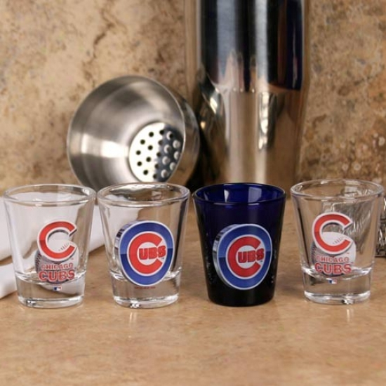 Chicago Cubs 4-pack High Definition Shot Glass Fix