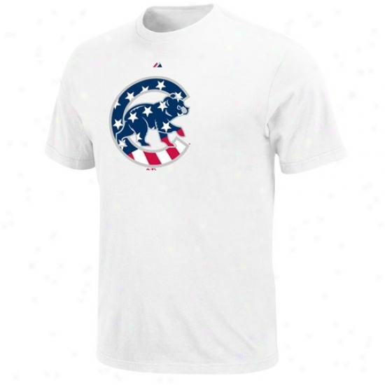 super popular 21775 dd0e6 Chicago Cubs Apparel: Majestic Chicago Cubs White Stars ...