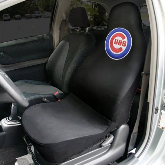 Chicago Cubs Black Team Logo Car Seat Cover